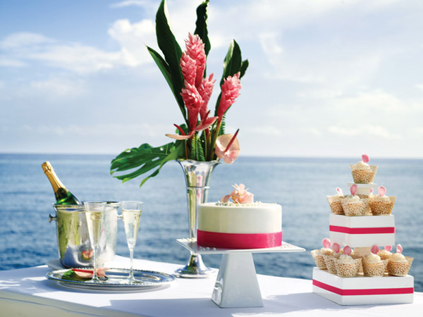 destination weddings all inclusive couples resorts jamaica wedding cake