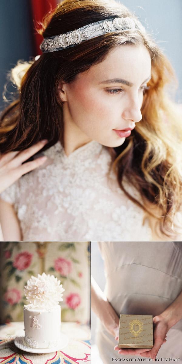 atelier encantado de noiva 2015 acessórios por liz Hart bolo, bolos Maggie Austin