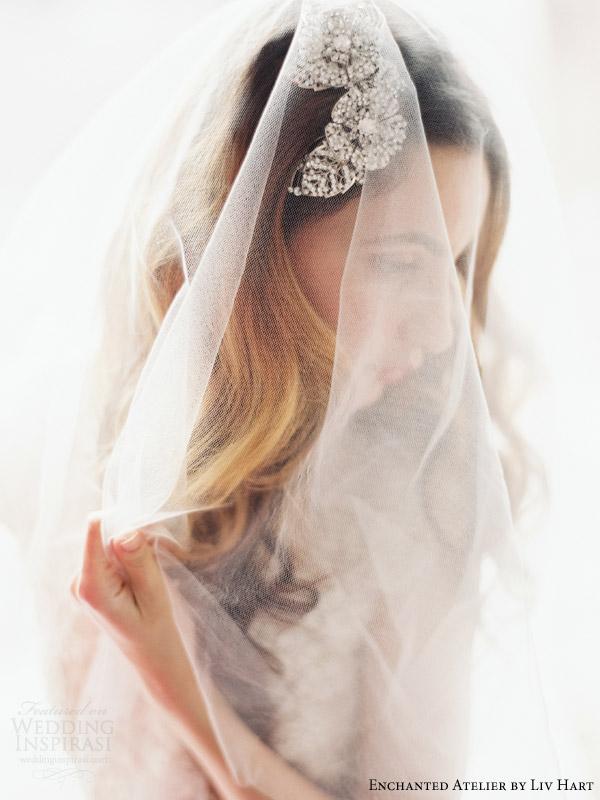 atelier encantado por liv Hart 2015 headpieces coleção de acessórios de noiva véus