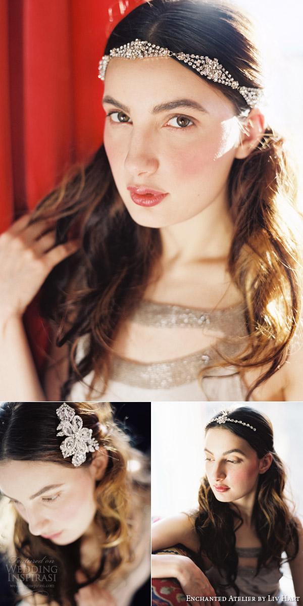 atelier encantado por liv Hart 2015 tiara tiara véu auréola pente