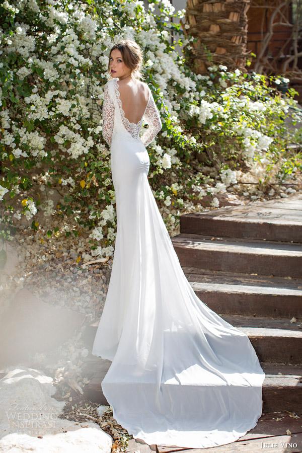 Julie Vino 2017 Spring Bridal Catherine Wedding Dress Back View