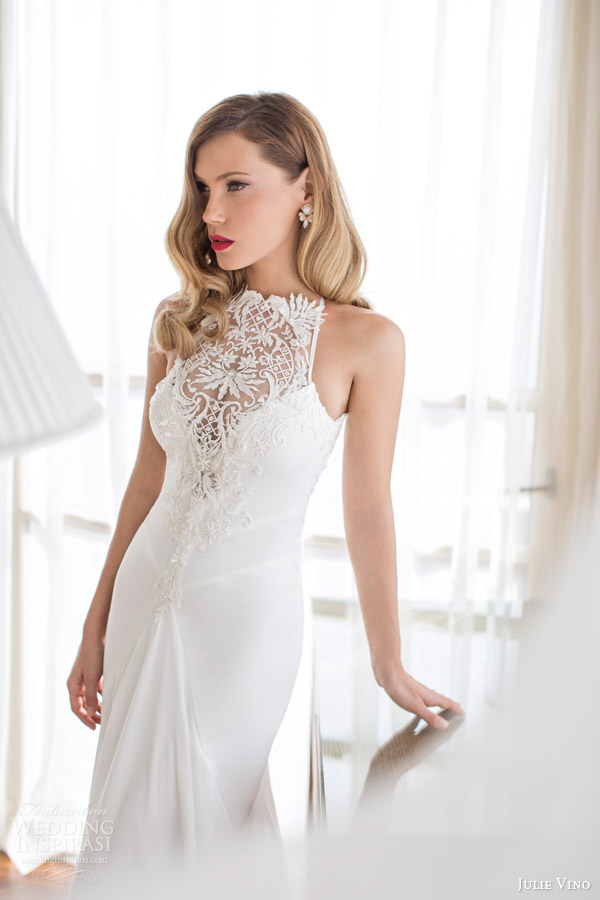 julie vino spring 2014 melanie wedding dress close up