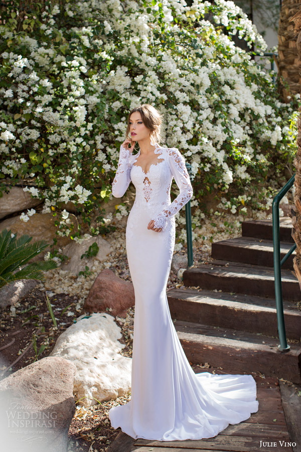 julie vino spring 2014 sharon long sleeve wedding dress