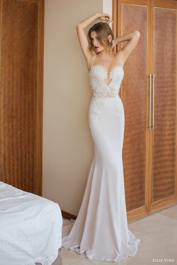 julie vino wedding dresses spring 2014 mariposa sheath wedding dress
