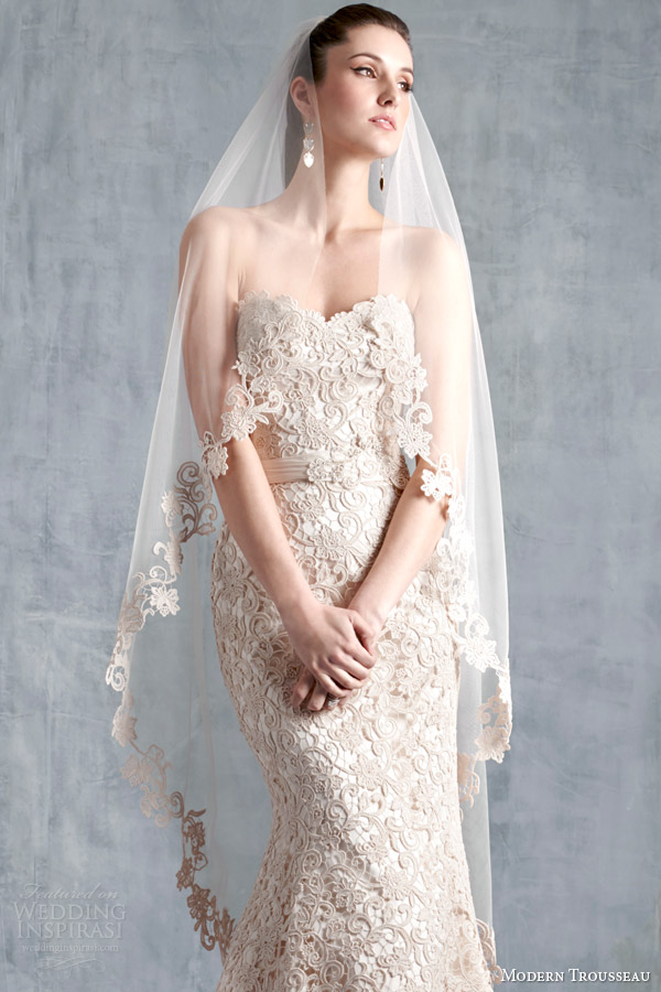 modern trousseau spring 2015 bridal accesories scout veil scout wedding dress