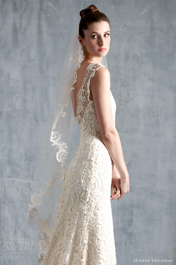 modern trousseau spring 2015 brynn wedding dress close up