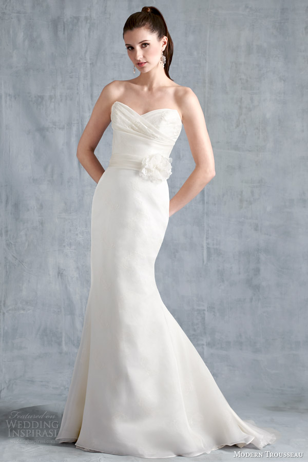 modern trousseau wedding dresses spring 2015 logan strapless gown