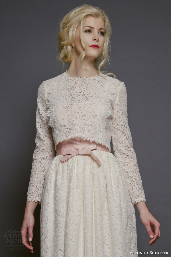 Veronica sheaffer fall 2014 wedding dresses wedding for Daisy lace wedding dress