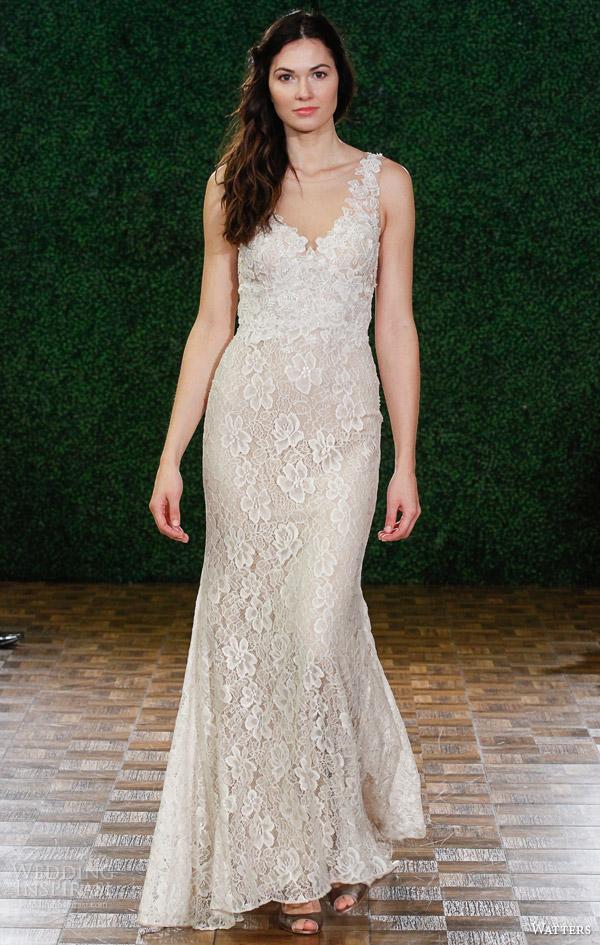 watters noiva primavera 2015 sem mangas estilo do vestido de casamento nu 6012b leandra