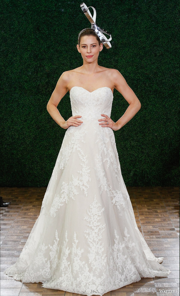 watters noiva primavera 2015 de casamento strapless vestido estilo 6023b philippa