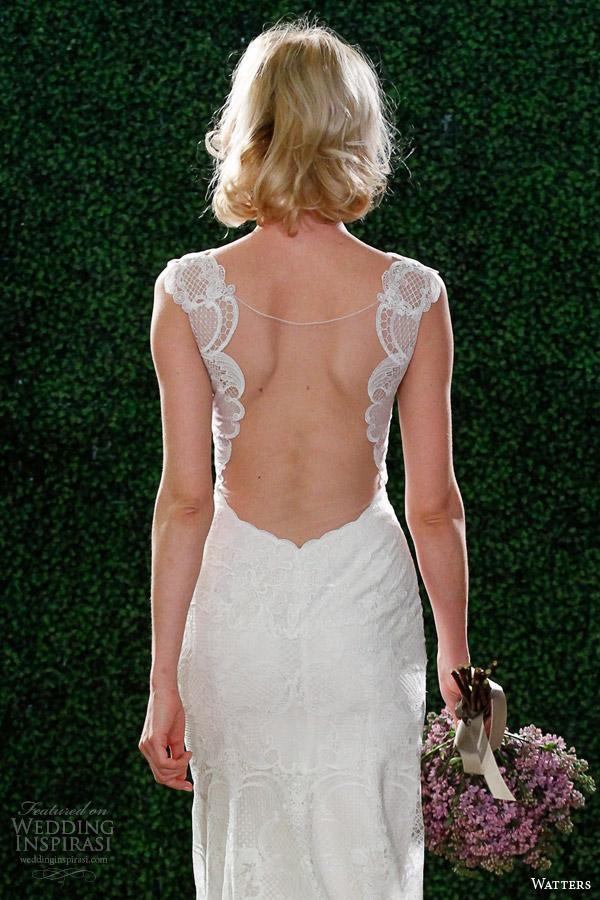 Primavera watters vestido de noiva 2015 estilo ilusão decote vista 6099b viv volta