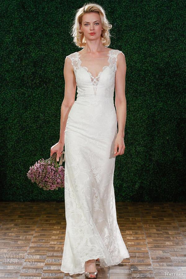 Primavera watters vestido de noiva 2015 estilo ilusão decote 6099b viv