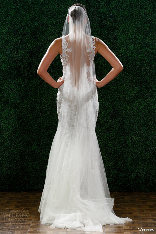 Primavera watters 2015 casamento vestido estilo 6030B Cinzia rendas bainha vista traseira