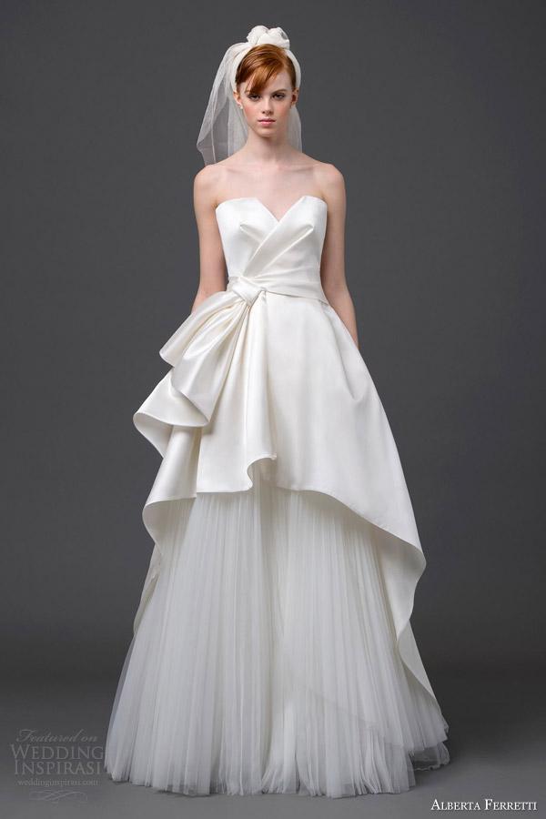 alberta ferretti bridal 2015 strapless wedding dress pegaso