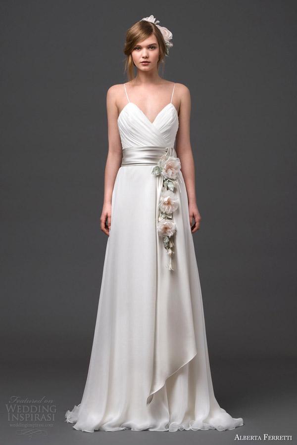 alberta ferretti wedding dresses 2015 adhara bridal gown floral sash