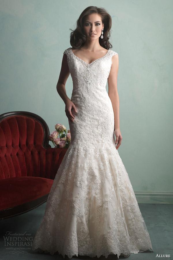 Allure bridals fall 2014 wedding dresses wedding for Allure long sleeve wedding dress