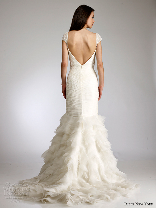 antonio gual tulle new york spring 2015 wedding dress koi dora open back view