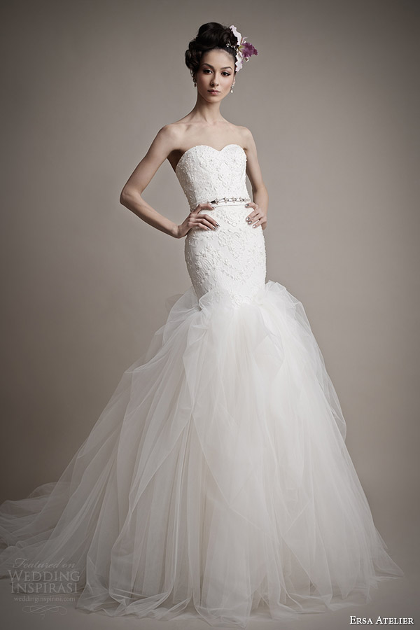 ersa atelier 2015 bridal catherina wedding dress strapless