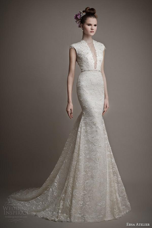 ersa atelier 2015 bridal didda wedding dress cap sleeves