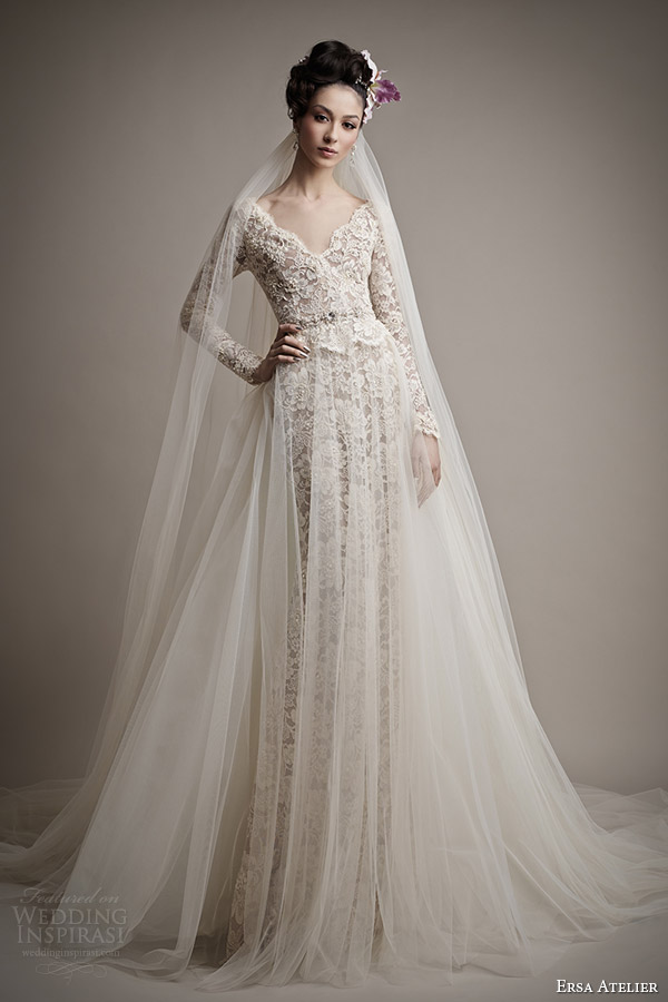 Ersa atelier spring 2015 wedding dresses wedding inspirasi for Ersa atelier wedding dress