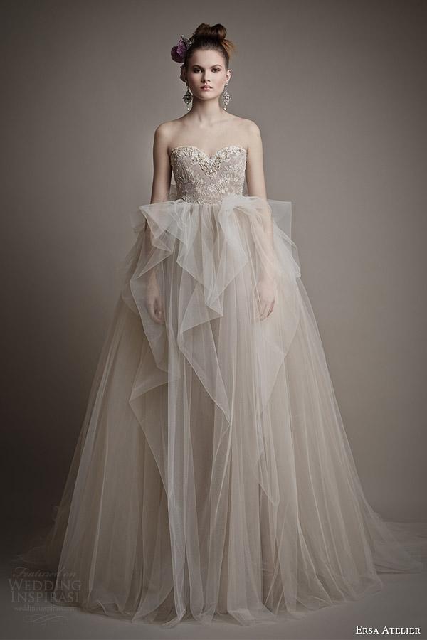 ersa atelier bridal 2015 ang mey strapless wedding dress ball gown skirt
