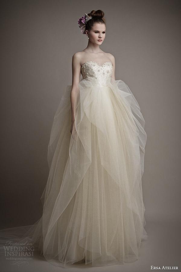 ersa atelier wedding dress 2015 heleni strapless gown