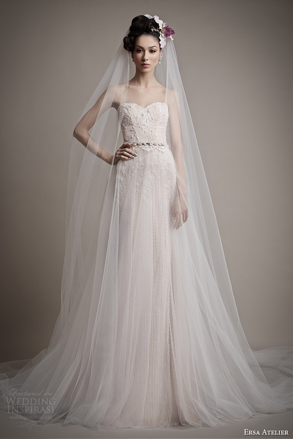 Ersa atelier spring 2015 wedding dresses wedding inspirasi for Wedding dresses with tulle skirts