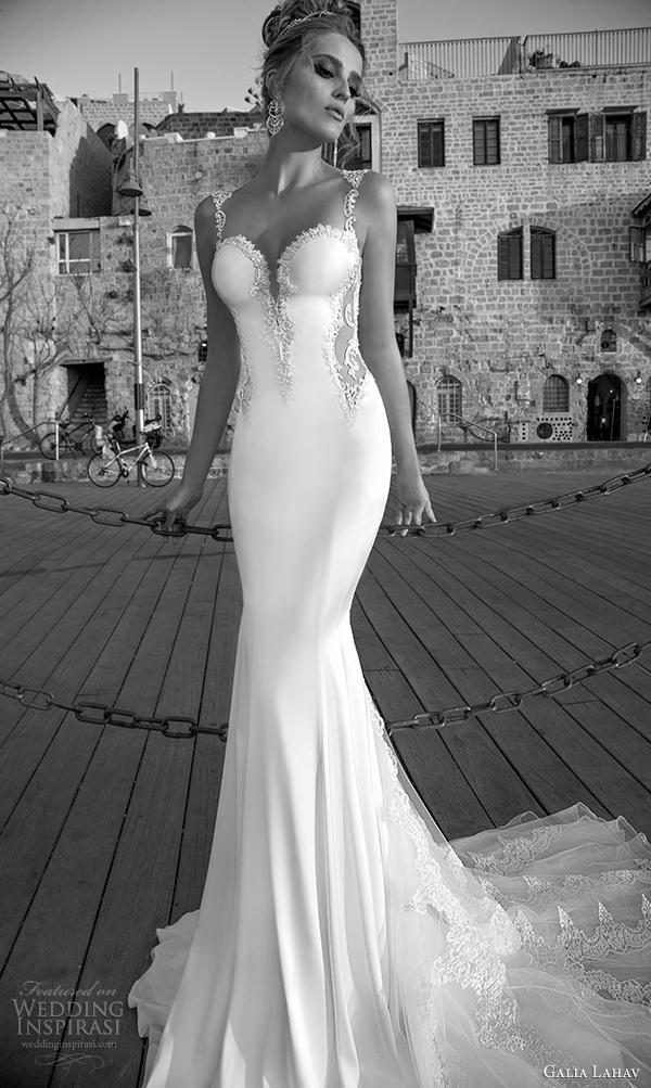 galia Lahav vista 2015 primavera vestido de noiva Frente antonia