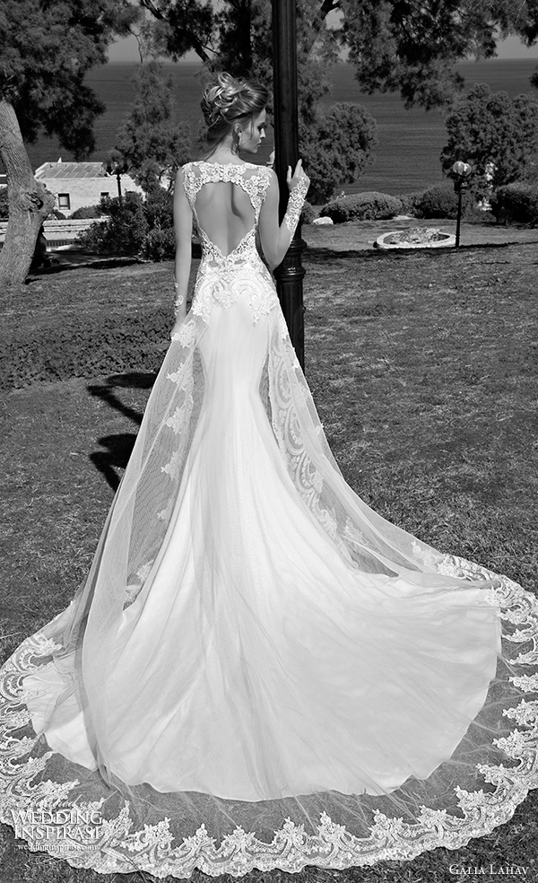 galia Lahav 2015 vestido de noiva alora vista traseira trem
