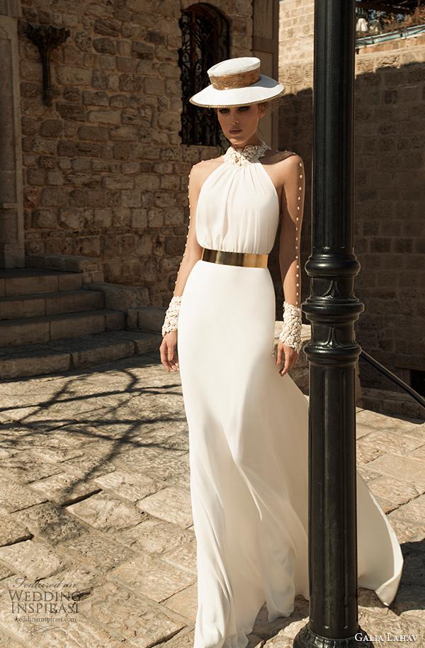 vista frontal primavera galia Lahav costura Vestido de noiva 2015 florentina 2
