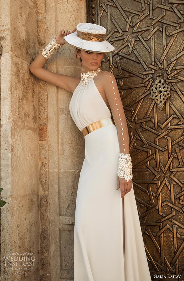 vista frontal primavera galia Lahav costura Vestido de noiva 2015 florentina 3