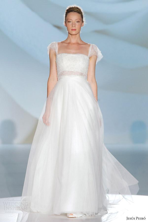 jesus peiro 2015 perfume bridal collection flutter sleeve wedding dress