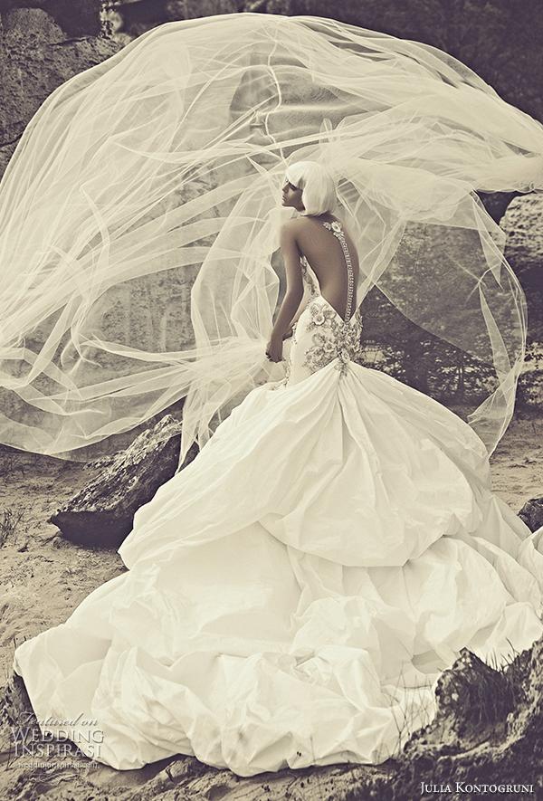 julia kontogruni 2015 wedding dress crystal spine back view