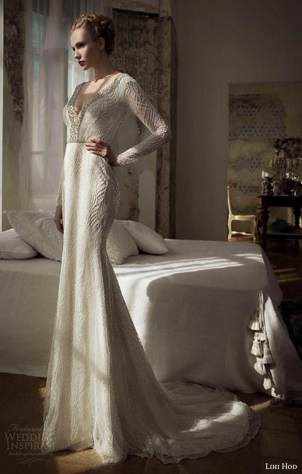 lihi hod 2014 long sleeve wedding dress star dust