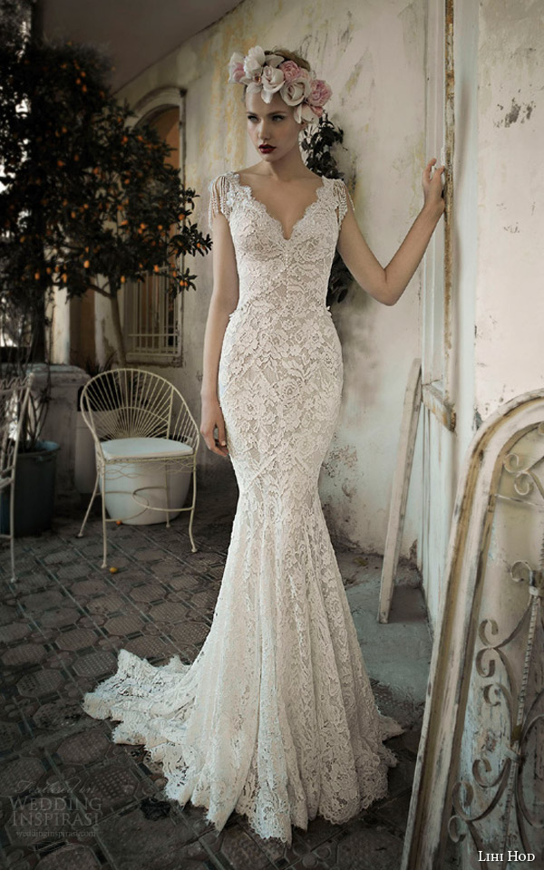 lihi hod bridal 2014 jade lace wedding dress