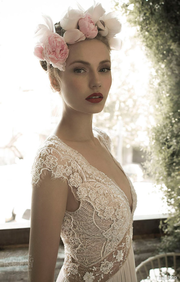 lihi hod bridal spring 2014 ginger lily wedding dress close up bodice