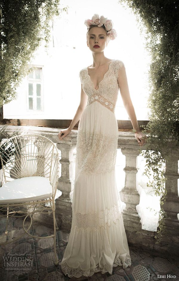 lihi hod bridal spring 2014 ginger lily wedding dress front view