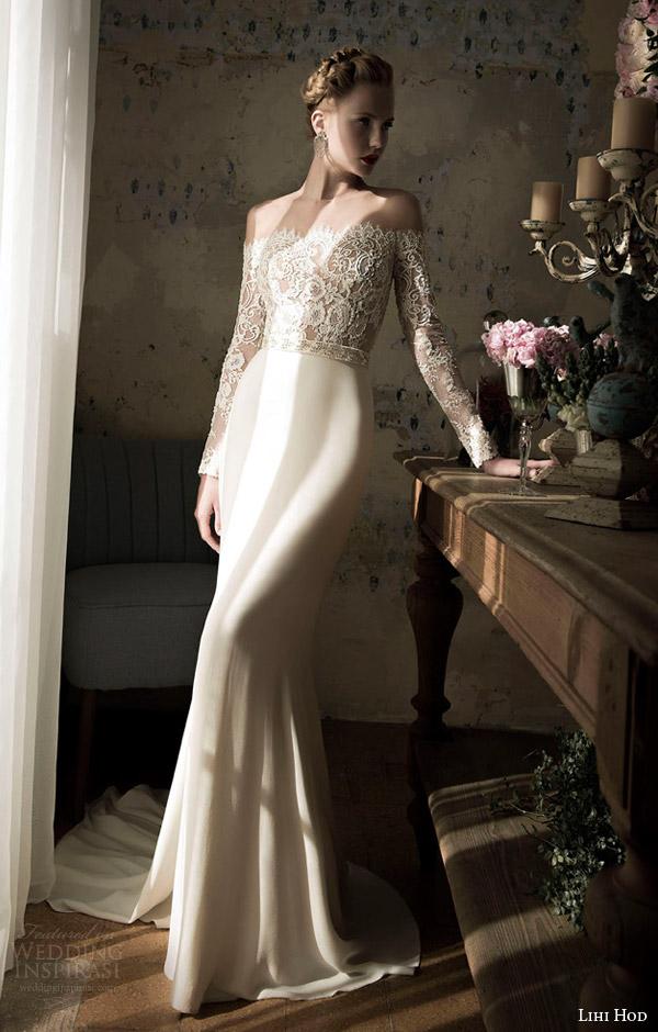 lihi hod spring 2014 blush wedding dress