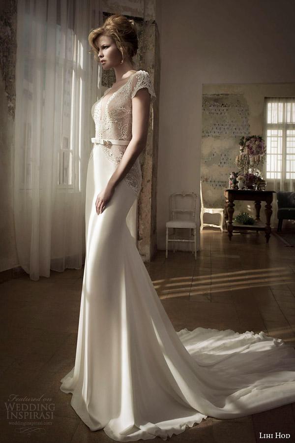 lihi hod wedding dress spring 2014 lay gown cap sleeves