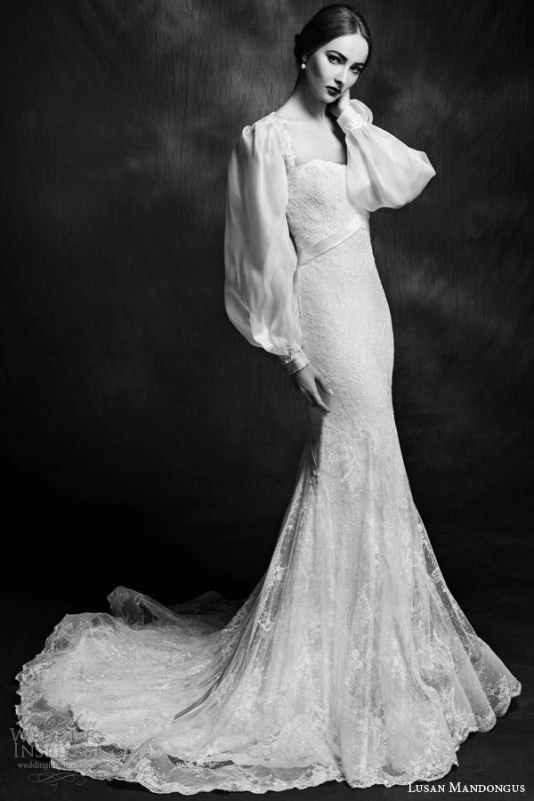 Wedding Gown Long Sleeve 91 Inspirational lusan mandongus bridal wedding