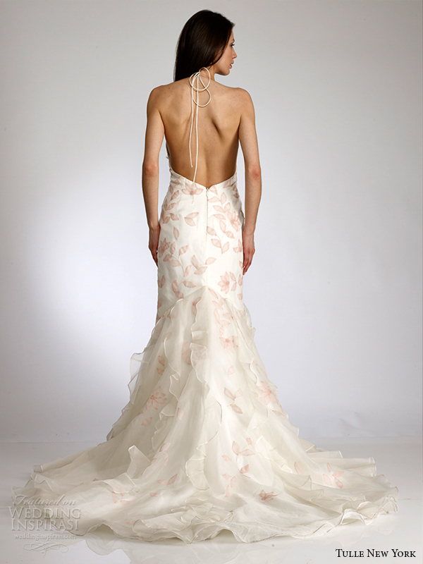tulle new york s2015 wedding dress koi brittainy back view tie halter straps