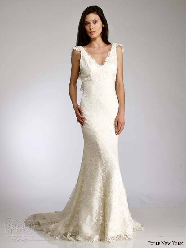 tulle new york spring 2015 wedding dress KOI lisa front view