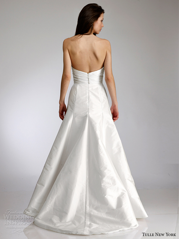 tulle new york spring 2015 wedding dress koi cindy back view