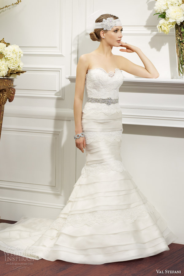 Strapless Mermaid Wedding Gown 72 Perfect val stefani fall strapless