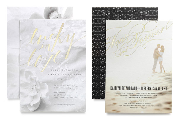 Wedding Paper Divas Foil Stamped Bridal Invitations Photo Background