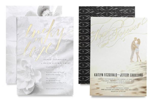 wedding paper divas foil stamped bridal invitations photo background