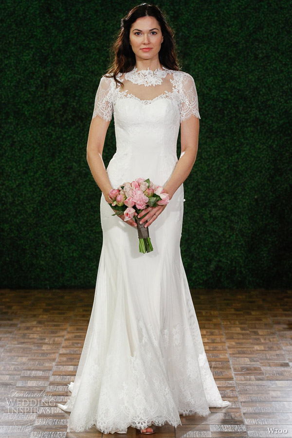wtoo brides fall 2014 blance style 13331 wedding dress lace cap sleeves