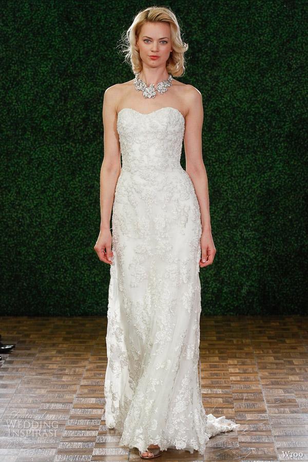 wtoo fall 2014 2015 helena strapless wedding dress style 13708