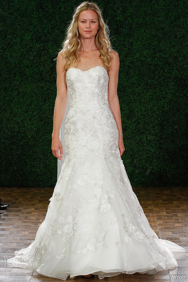 wtoo fall 2014 2015 tatiana style 13023 strapless wedding dress