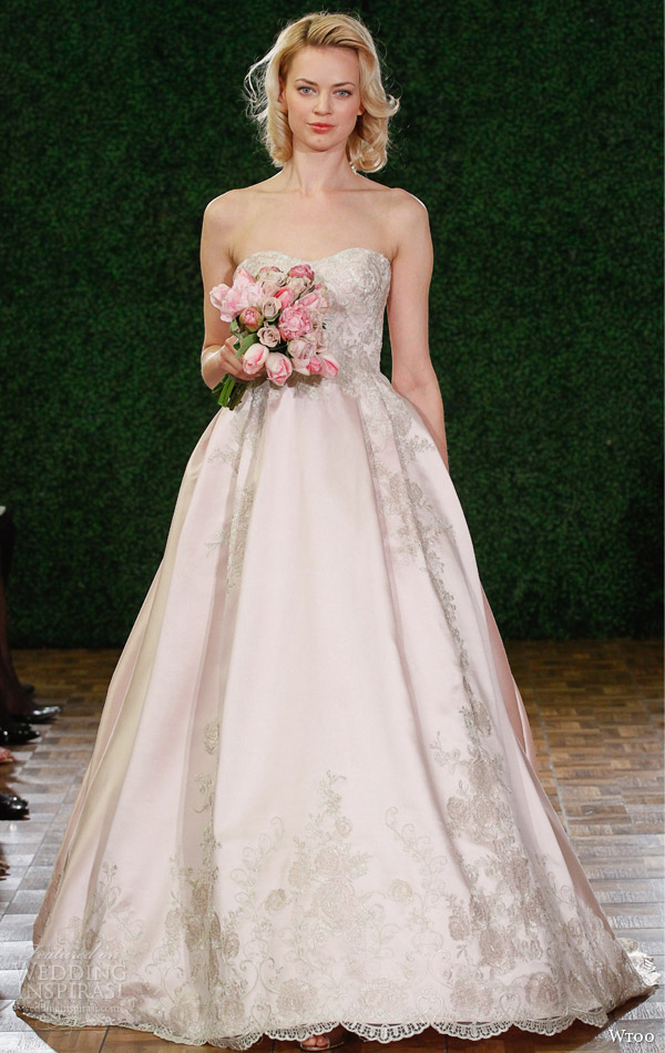 wtoo fall 2014 watters mathilda strapless ball gown wedding dress